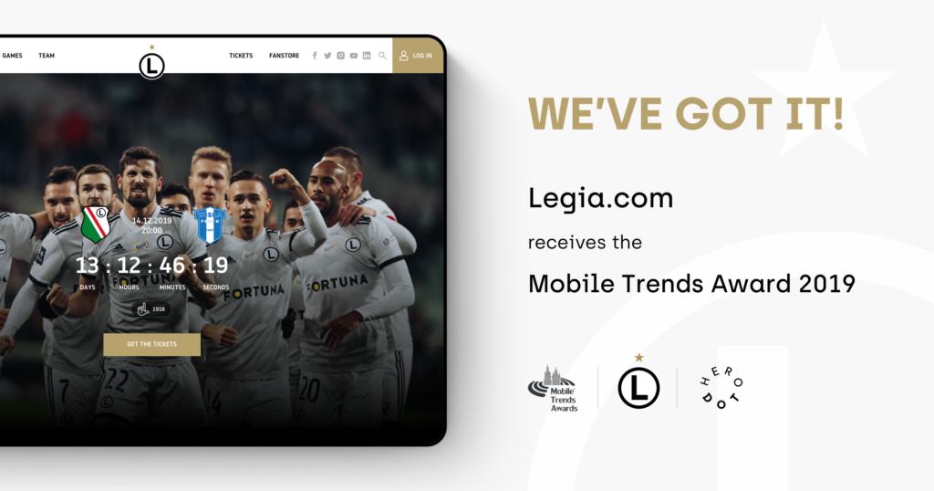 Legia receives Mobile Trends Award 2019