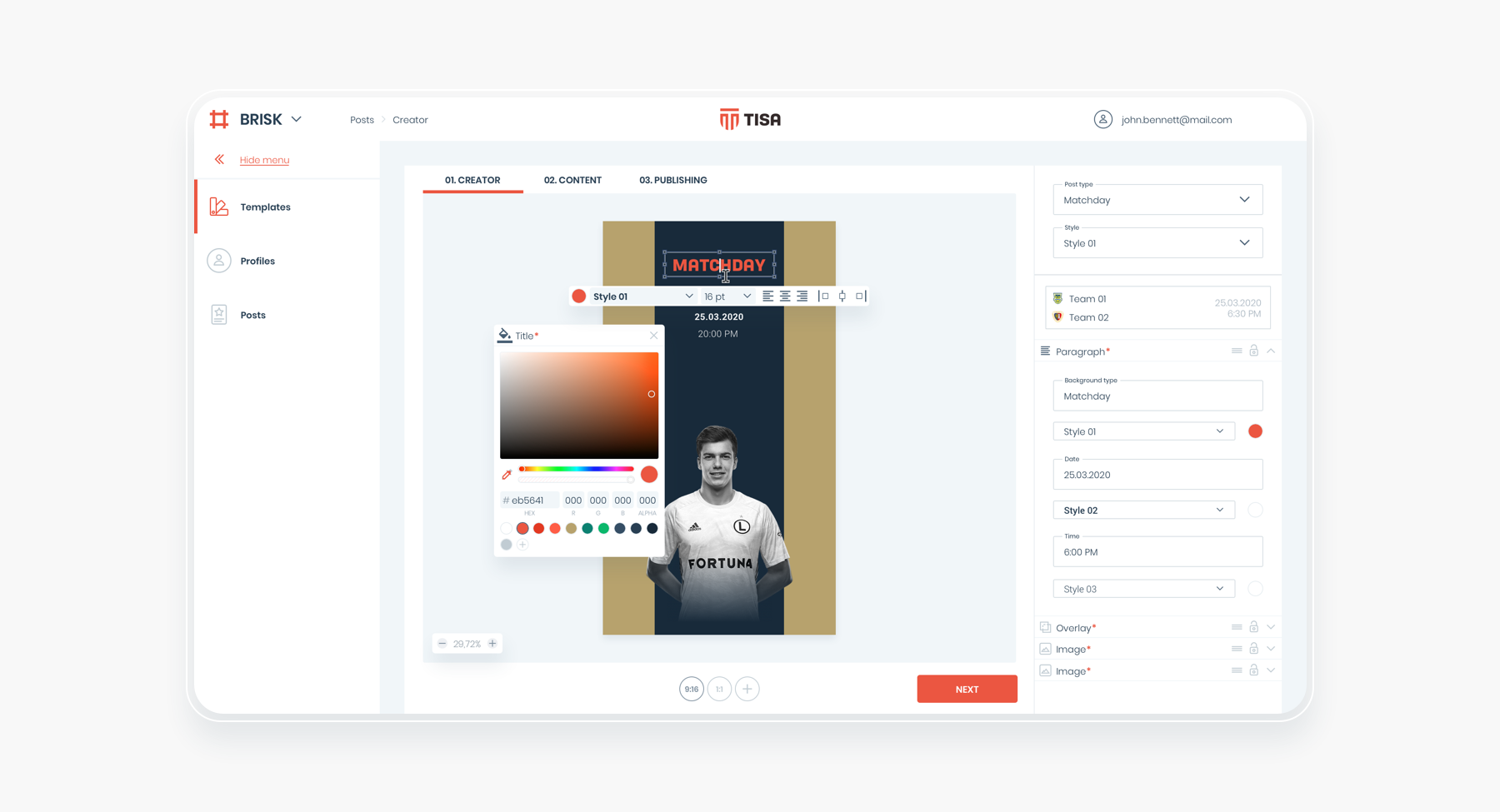 The look of BRISK thanks to Design System prepared by HeroDOT for TISA.