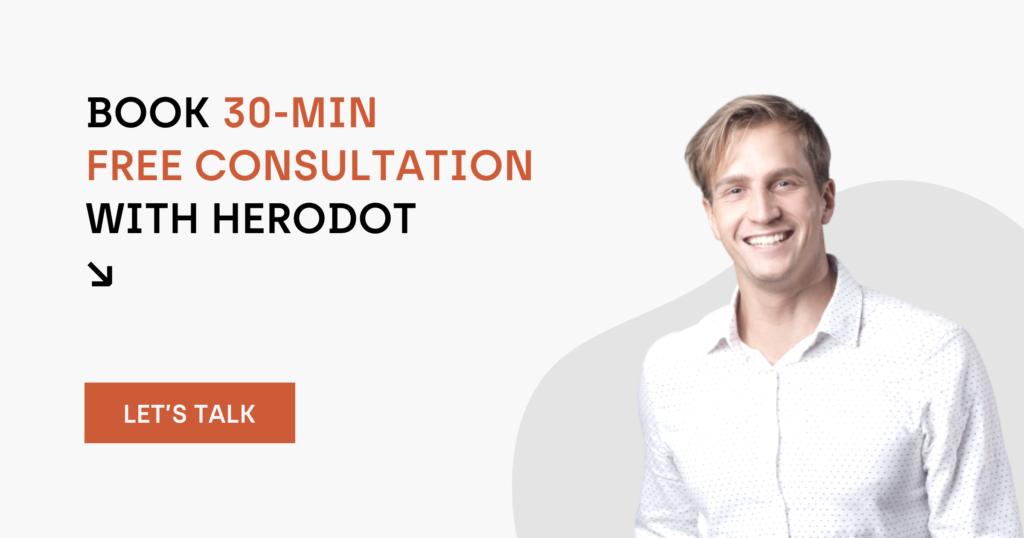 30-min free consultation with herodot