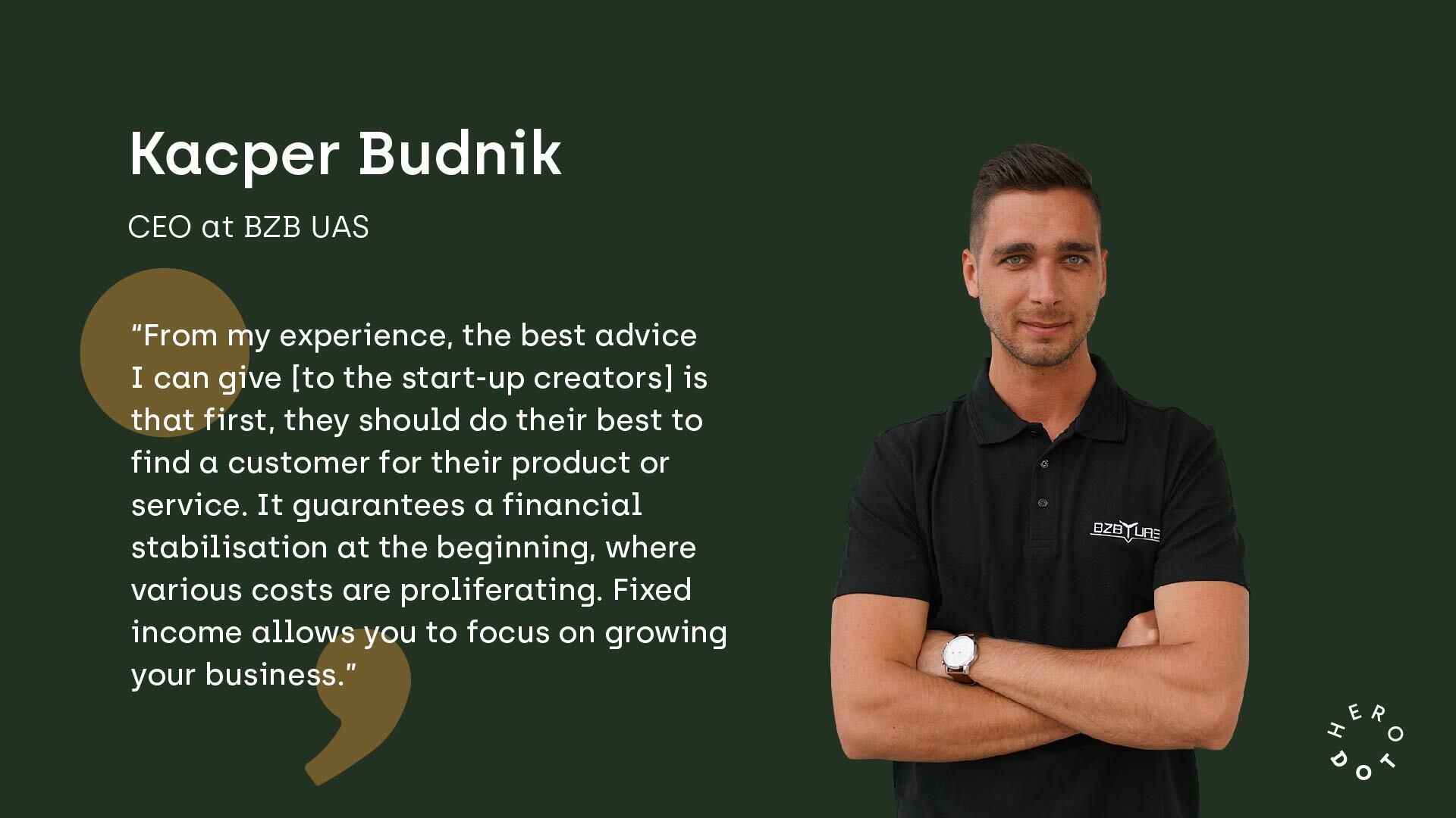 Kacper Budnik on Start-ups management.