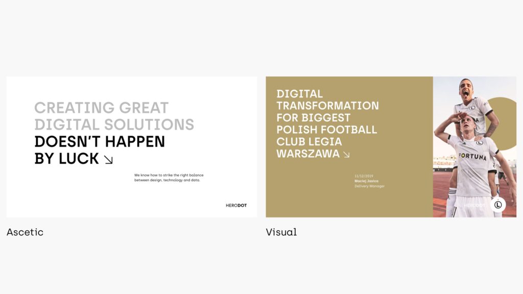herodot brand presentation templates - ascetic and visual