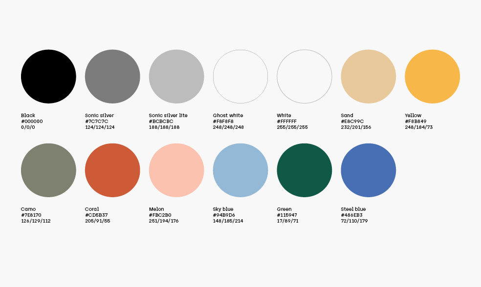 primary brand colour palette herodot