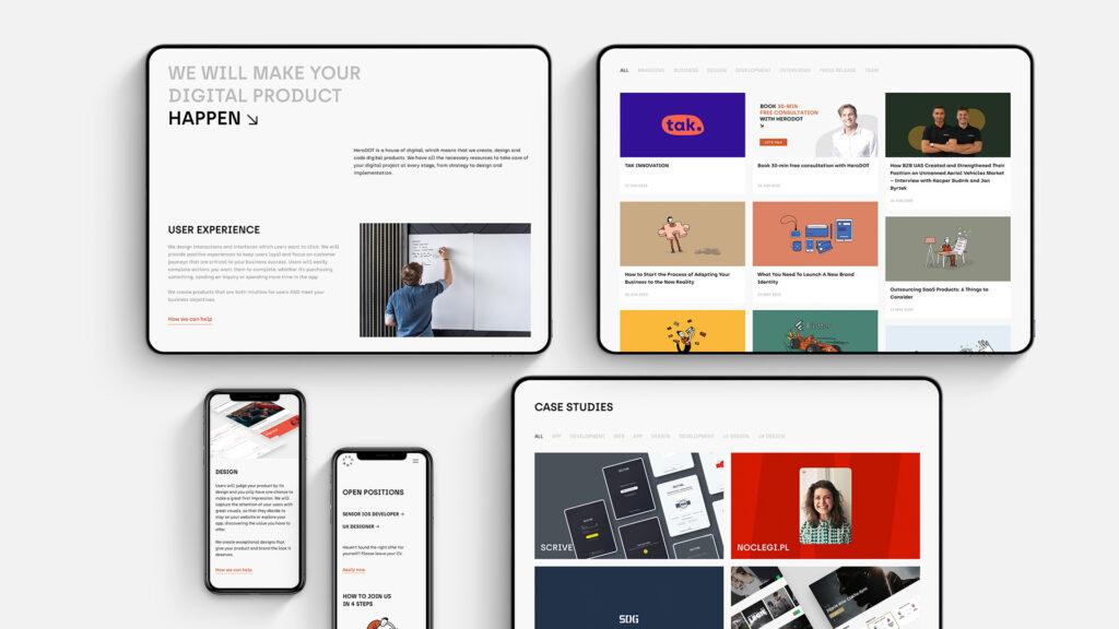 mockup herodot website design