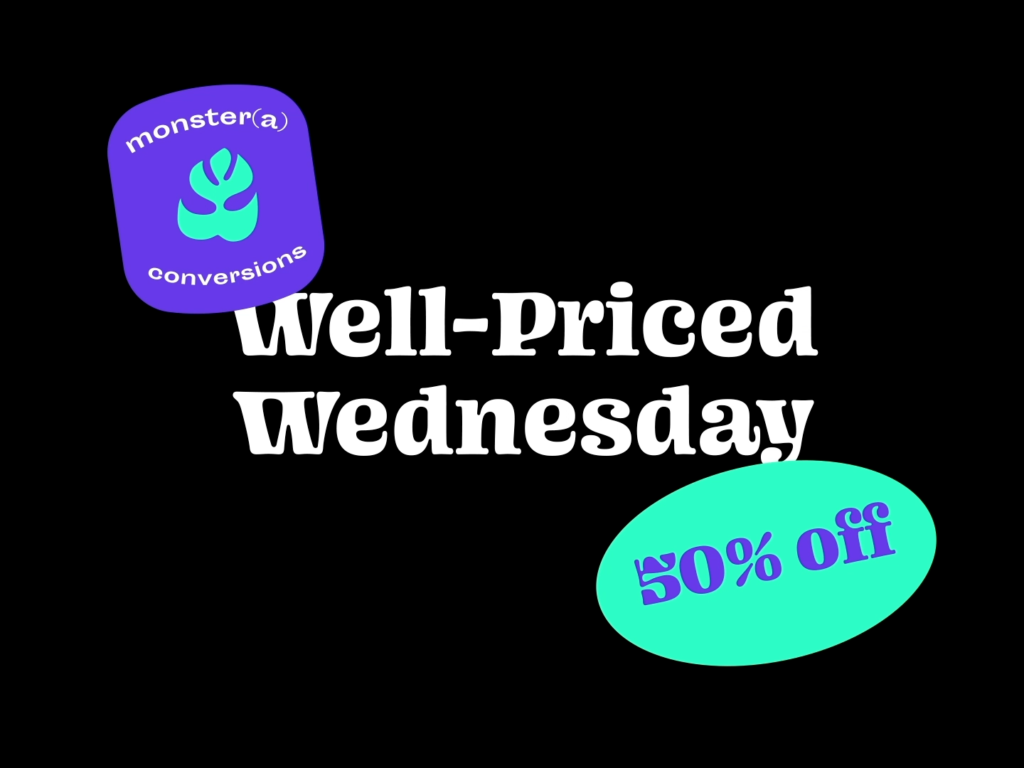 Well-Priced Wednesday is for sharing marketing cases design by Jarek Maćków