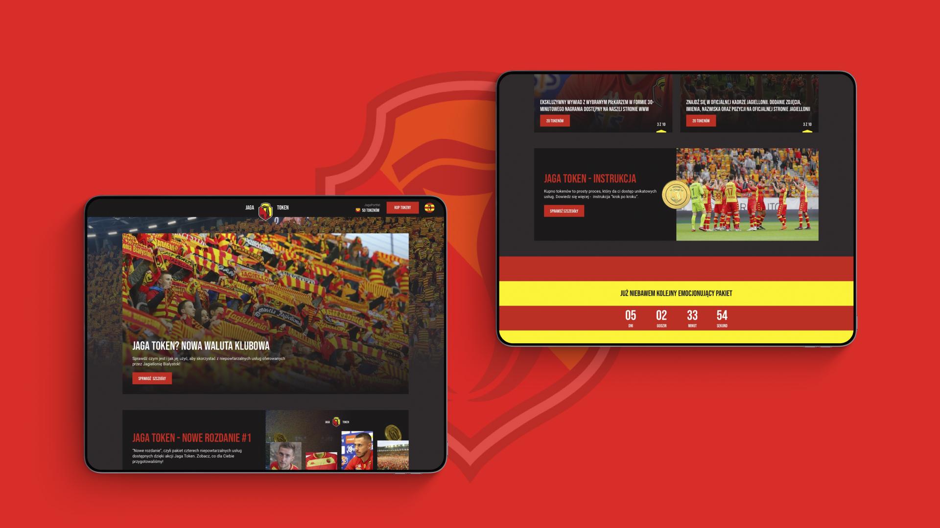 Jaga Token Jagiellonia website strona internetowa